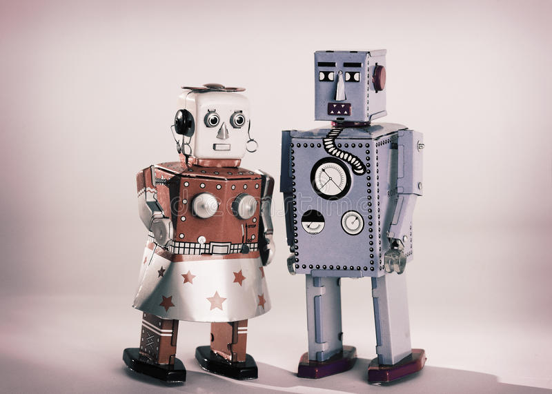 Download Toy Robots stock photo. Image of couple, love, female - 24126724