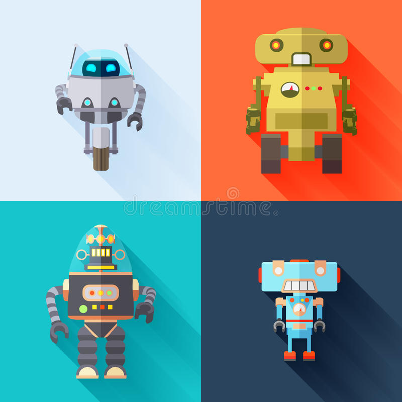 Toy Robots vector illustration