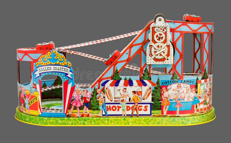 Toy Roller Coaster (with clipping path). Toy Roller Coaster with a clipping path. Isolation is on a transparent layer in the PNG format stock photography