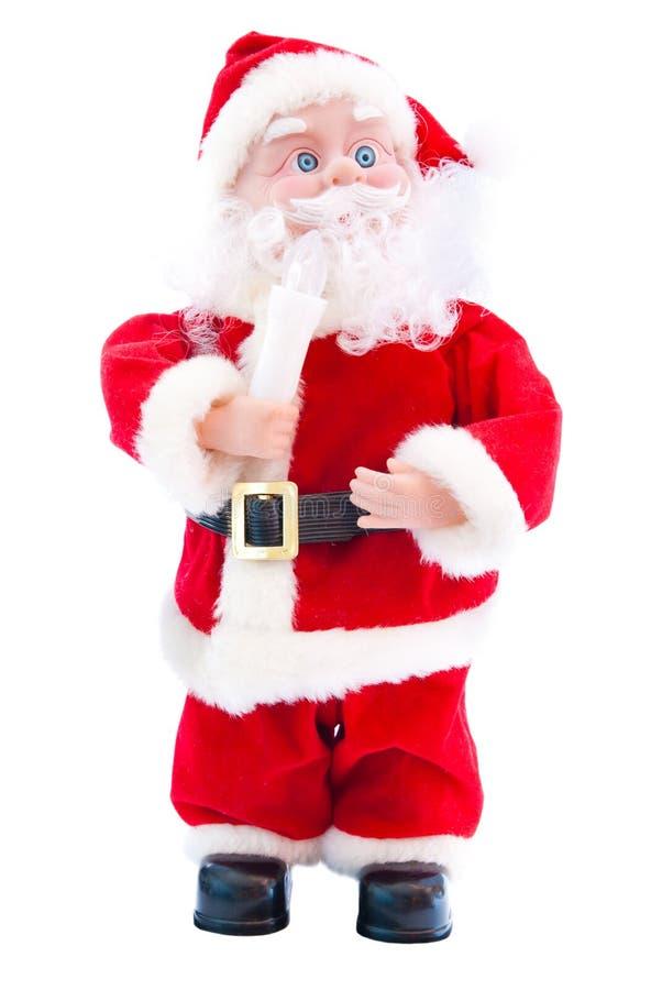 Toy santa claus royalty free stock photos