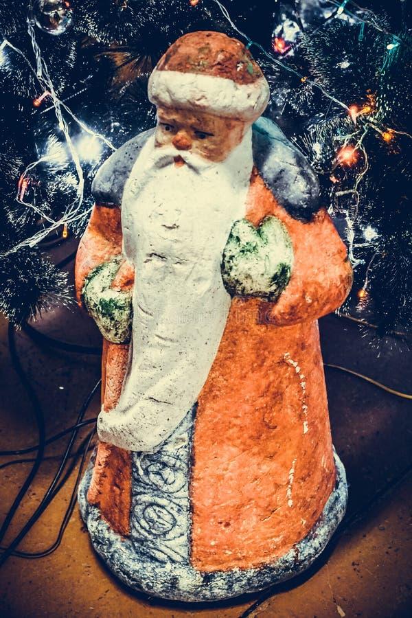 Toy Santa Claus Soviet tider arkivfoto