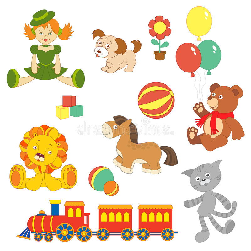 Toy set stock illustration