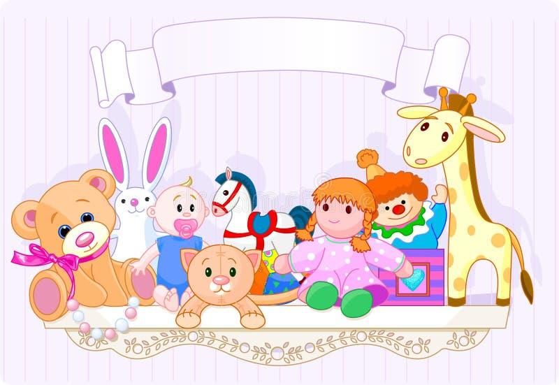 The toy shelf vector illustration