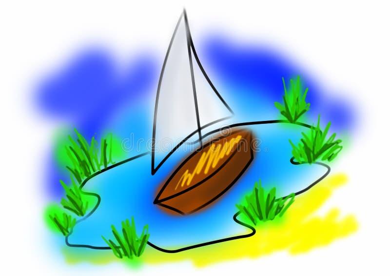 Download Toy ship stock illustration. Illustration of boat, funny - 5999010