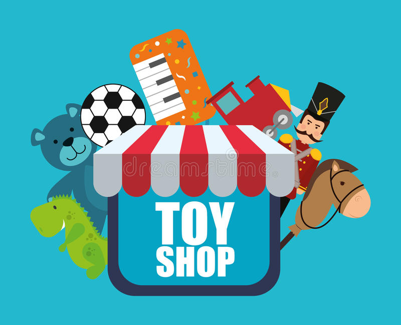 Toy Store Logo : Toy shop design stock vector illustration of cartoon