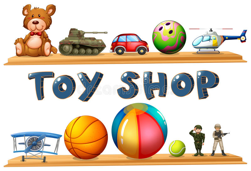 Toy Ball Clip Art : A toy shop stock vector image of battery army