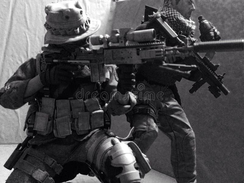 Toy Sniper Standby imagens de stock