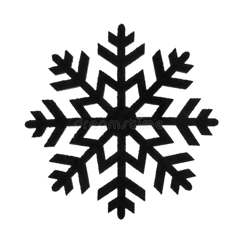 Toy snowflake isolated. The toy the snowflake isolated on white background stock photos