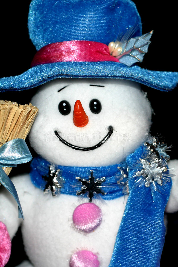 Toy snowman royalty free stock photography