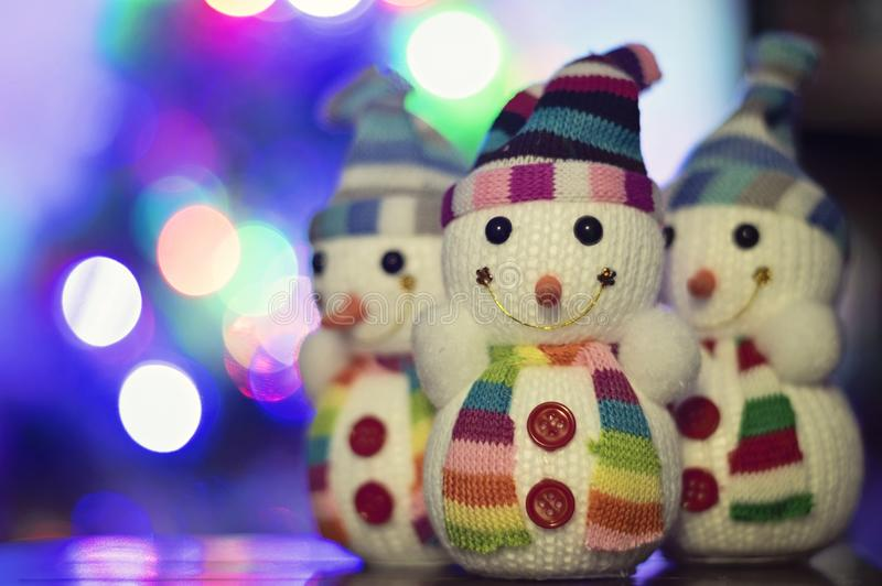 Toy snowman stock photography