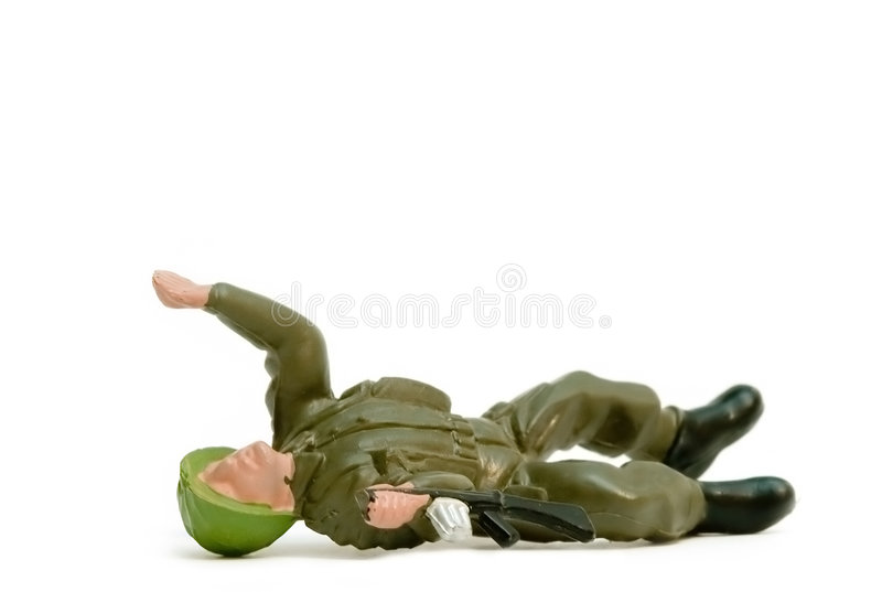 Toy soldier. Isolated on white royalty free stock photos