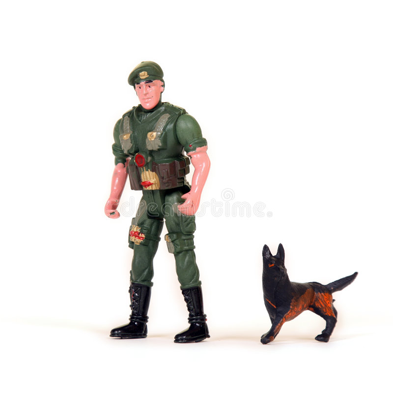 Toy soldier. In green uniform royalty free stock photography