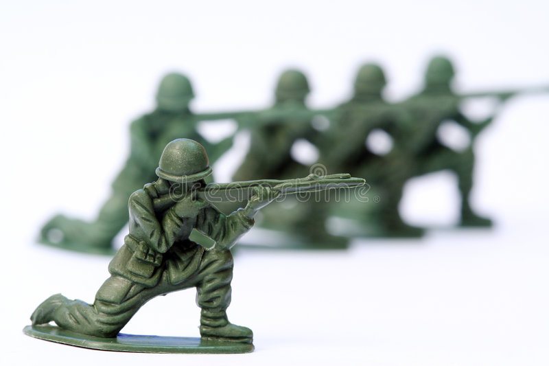Toy Soldier. Close up of toy soldier royalty free stock photos