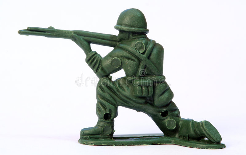 Toy Soldier. Close up of toy soldier royalty free stock photo