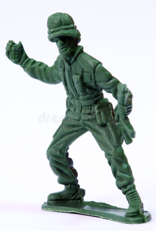 Toy Soldier. Close up of toy soldier stock photos