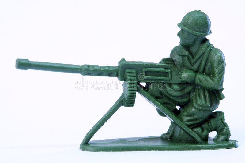Toy Soldier. Close up of toy soldier royalty free stock image