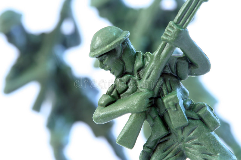Toy Soldier. Close up of toy soldier stock images