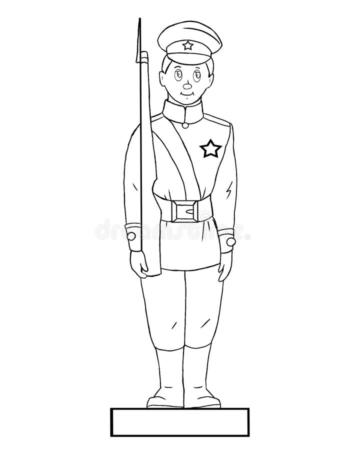 Toy soldier stock illustration
