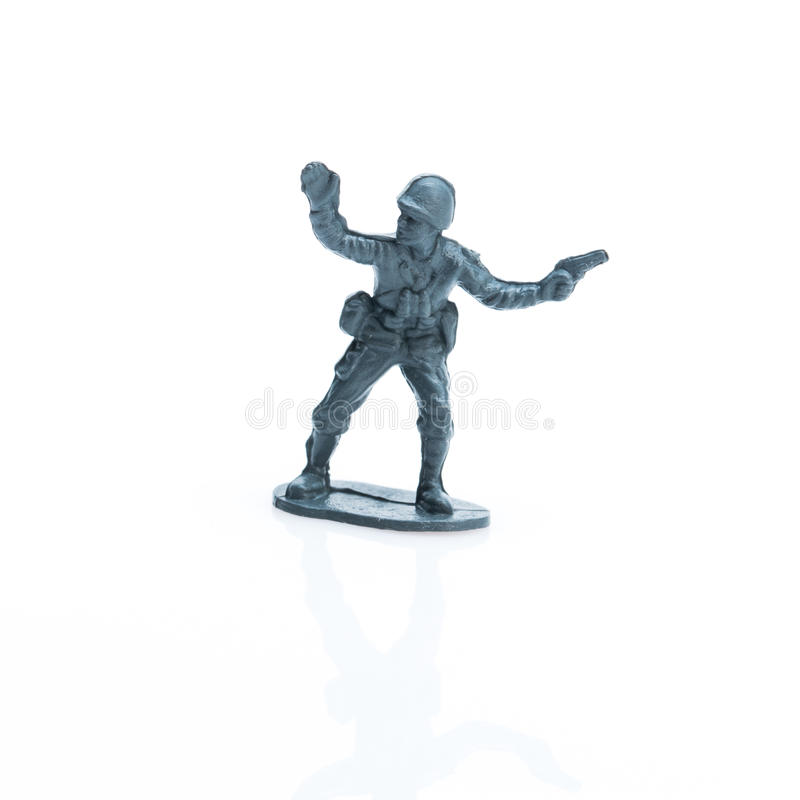 Toy soldier eight. Pictured toy soldier in uniform of the twenty century royalty free stock images