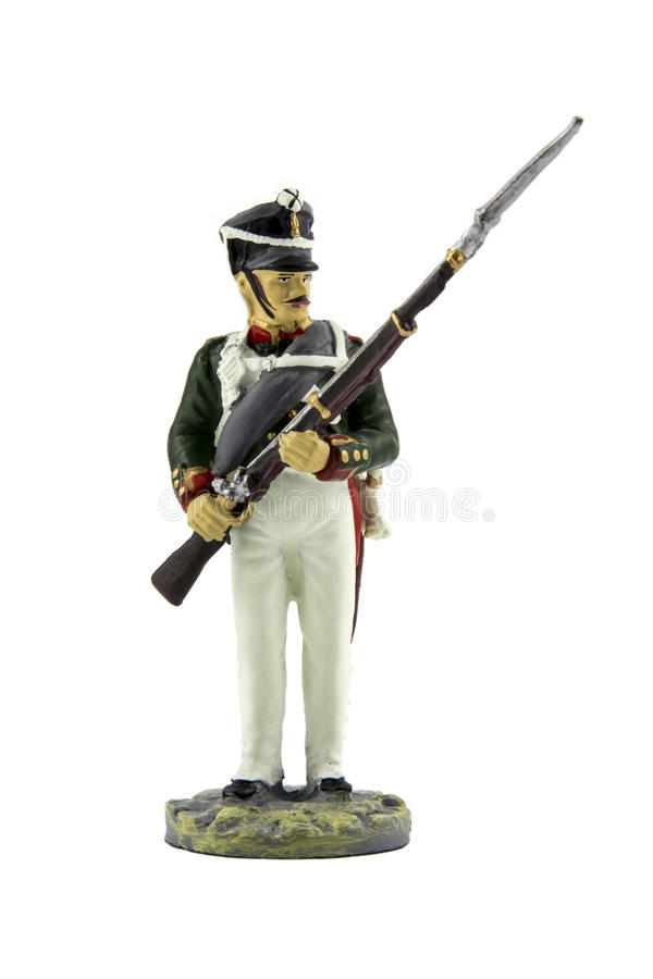 Toy soldier isolated royalty free stock images