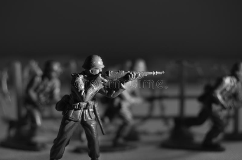 Toy Soldier with Rifle royalty free stock image