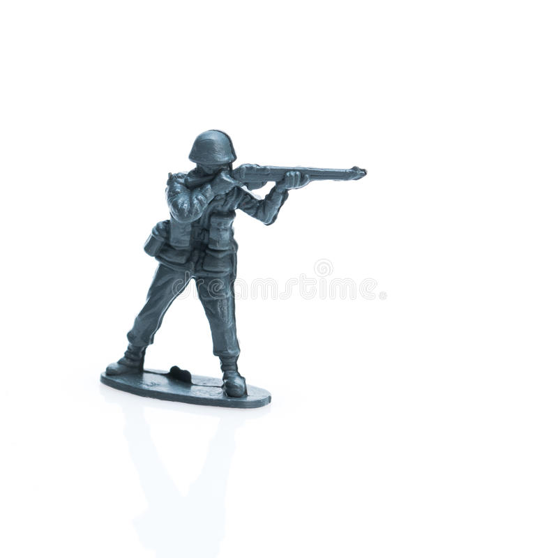 Toy soldier three. Pictured toy soldier in uniform of the twenty century stock photos