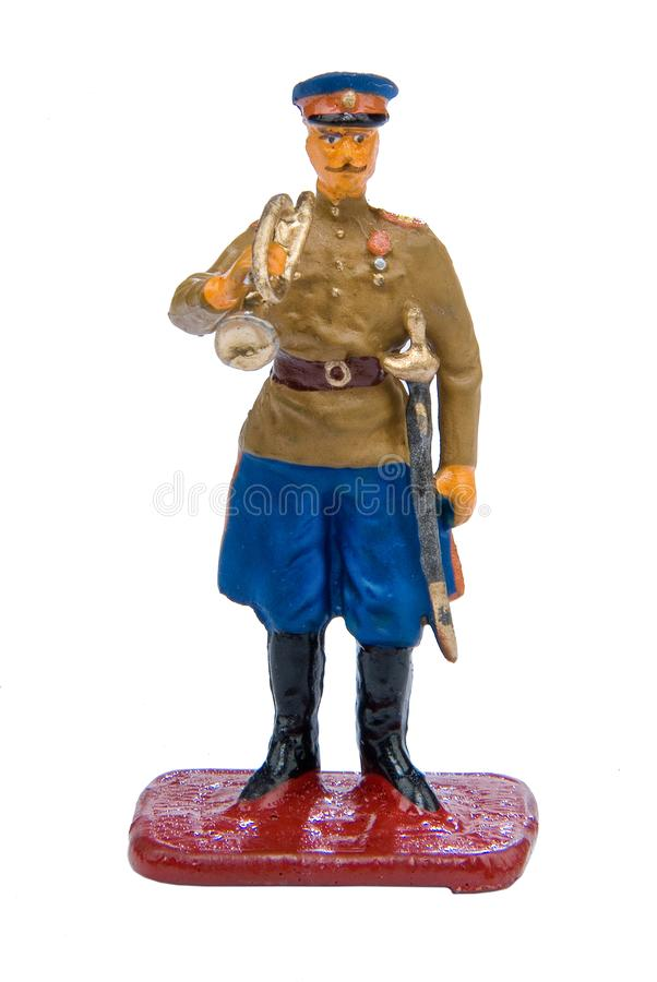 Toy Soldier. On a white isolated studio background royalty free stock photo