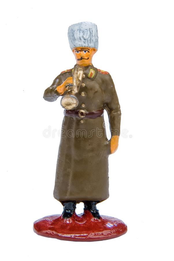 Toy Soldier. On a white isolated studio background royalty free stock images