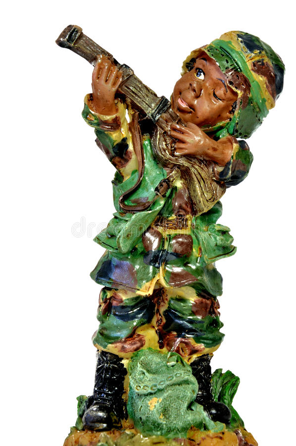 Toy Soldier. On white background stock image