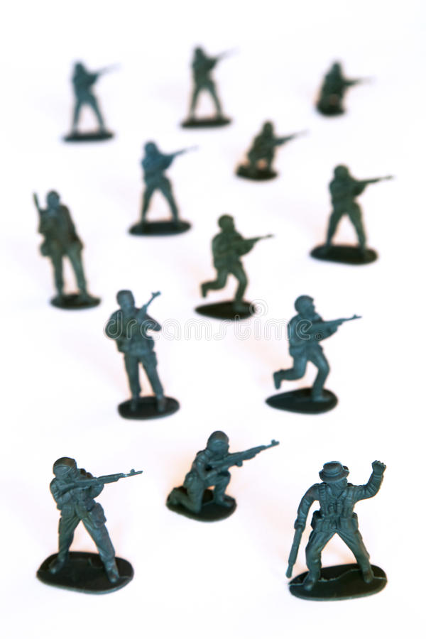 Toy soldiers royalty free stock photo