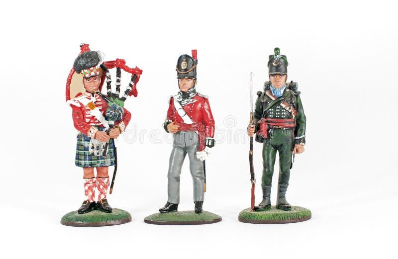 Toy Soldiers från striden av Waterloo 1815 arkivbild