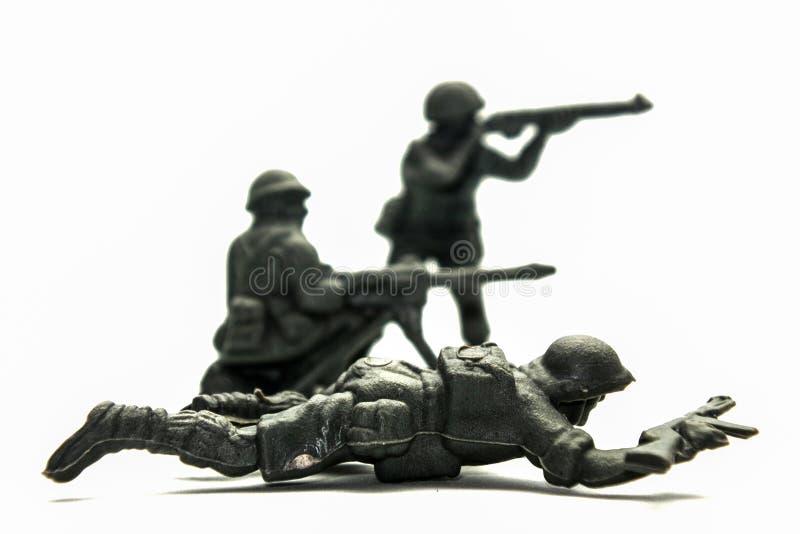 Toy Soldiers plástico imagem de stock royalty free
