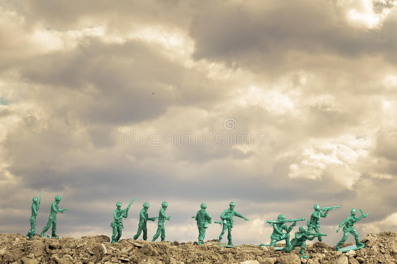 Toy Soldiers War photographie stock
