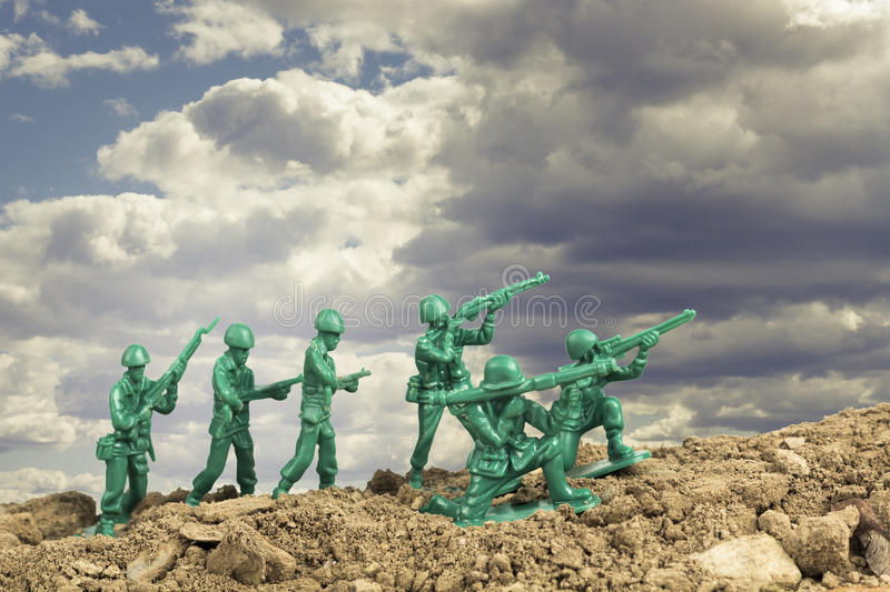 Download Toy Soldiers War stock afbeelding. Afbeelding bestaande uit fighting - 54091387
