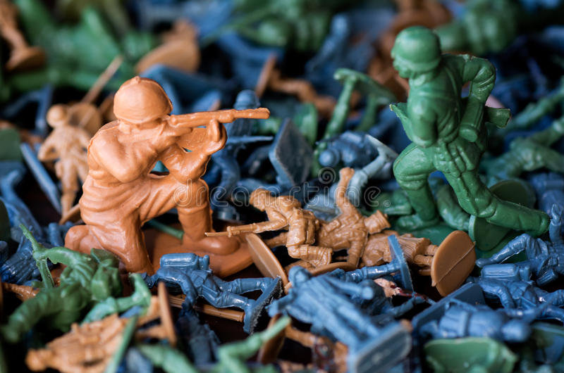 Toy soldiers - world war stock image