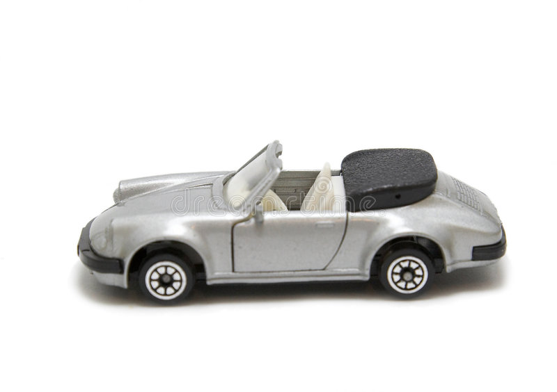 Toy sports car. A toy sports car isolated on white stock image