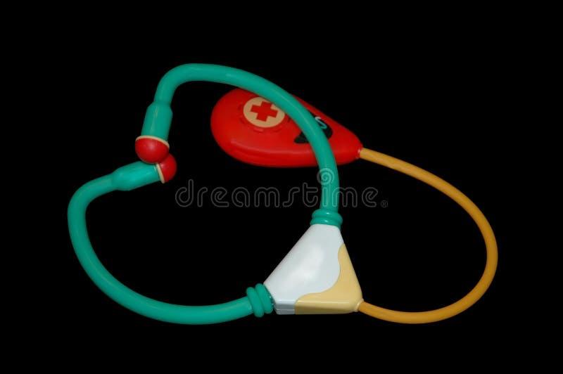 Toy stethoscope royalty free stock image