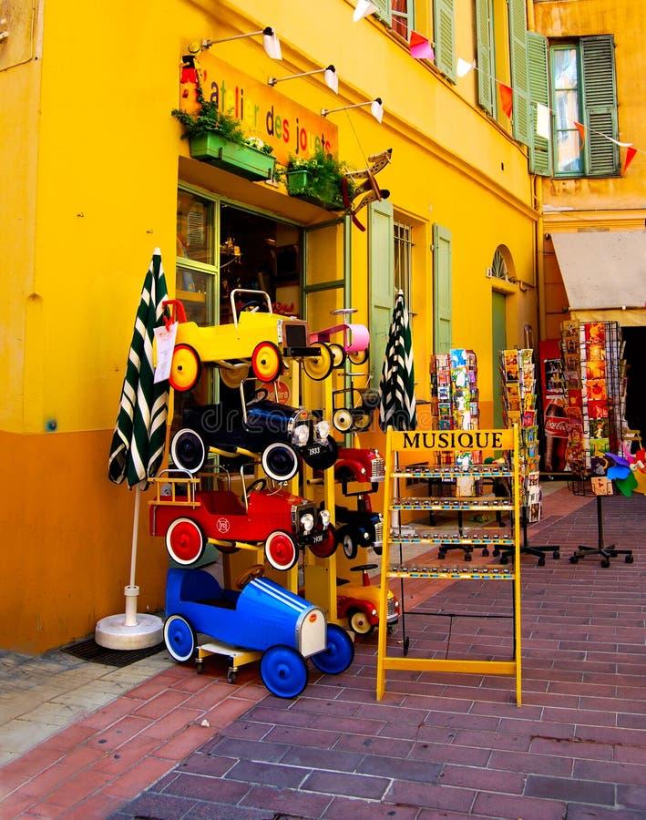 Toy Store met de Muziekdozen van Auto'smarionetten stock foto's