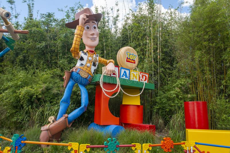 Toy Story Land, Woody, Disney World royalty free stock photography