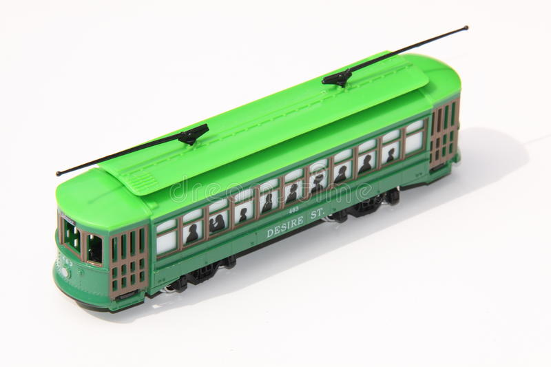 Toy streetcar stock photography