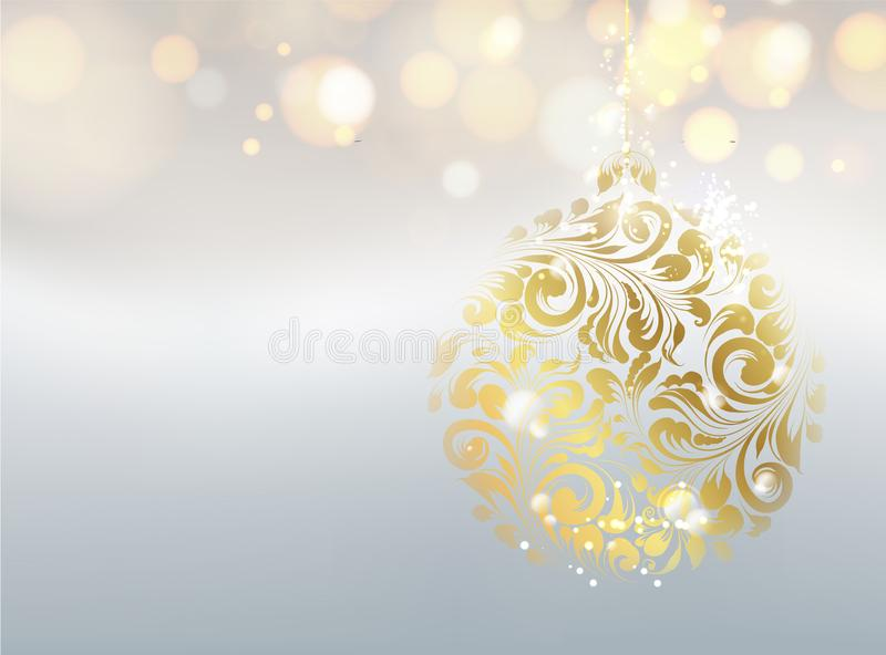 Golden dust falls on the background. Abstract card for the Happy new year 2020. stock illustration