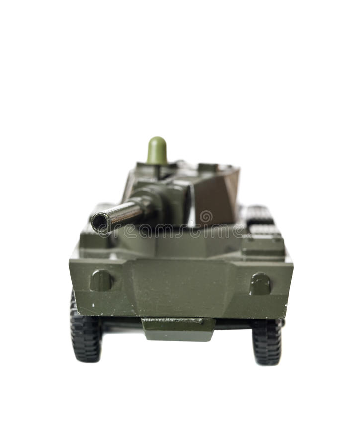 Toy tank. Isolated on a white background stock photography