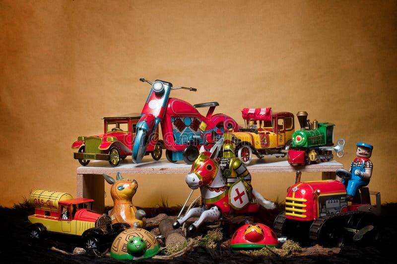 Toy Tin Robot Gathering 04 Royalty Free Stock Images