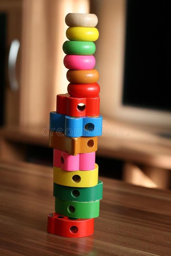 Download Toy tower stock photo. Image of brown, playing, building - 27645256