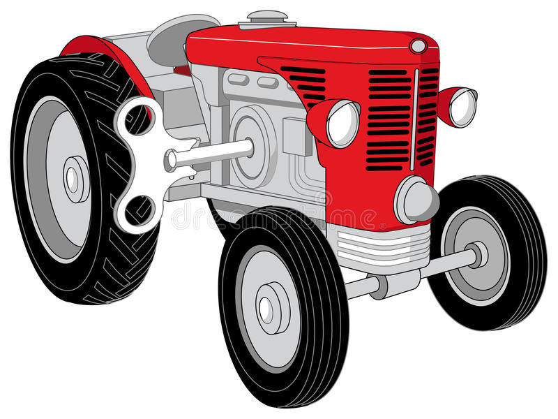 Toy tractor. Vector designed toy red tractor vector illustration