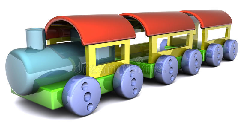 Download Toy Train stock illustration. Image of train, child, white - 11245184
