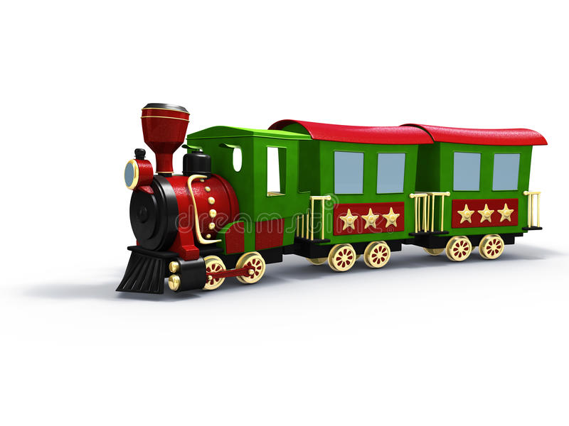 Toy train royalty free illustration