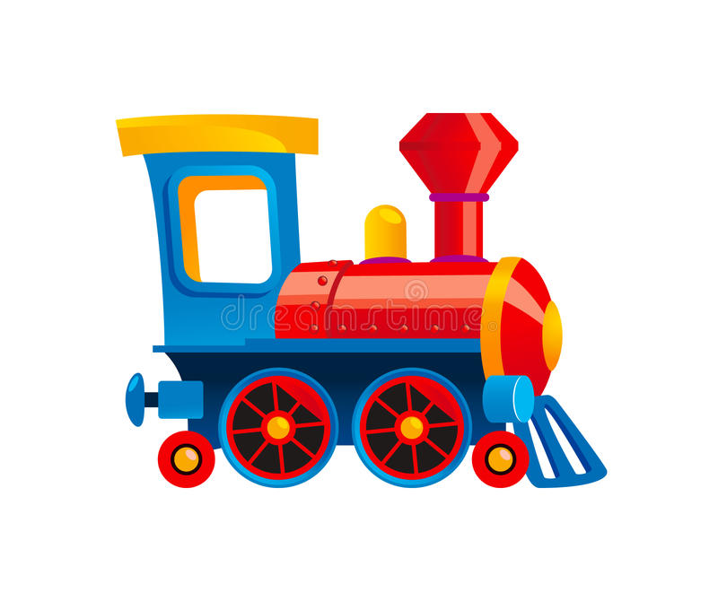 Toy train vector illustration