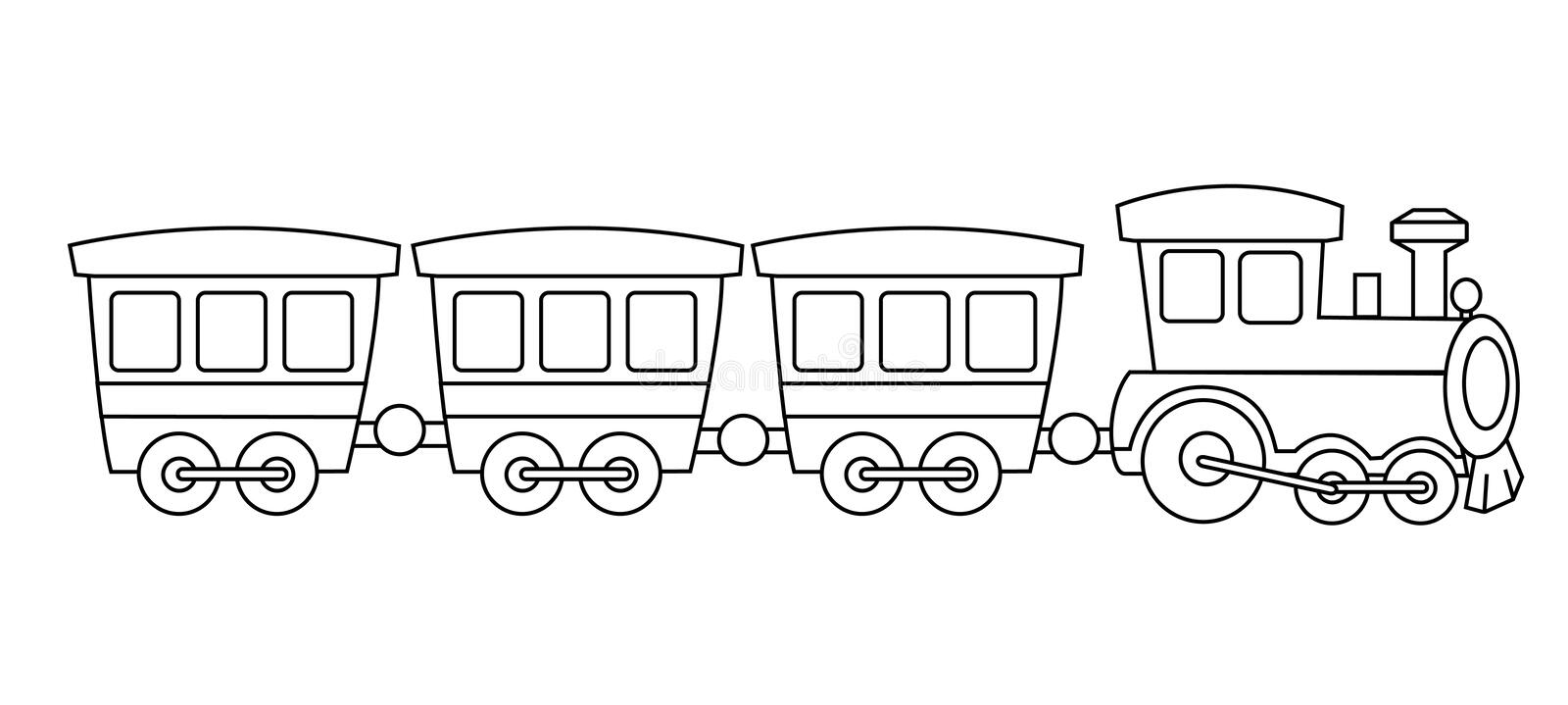 Toy train stock vector. Illustration of coach, clipart ...