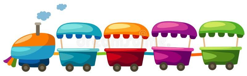 Toy train vector illustration